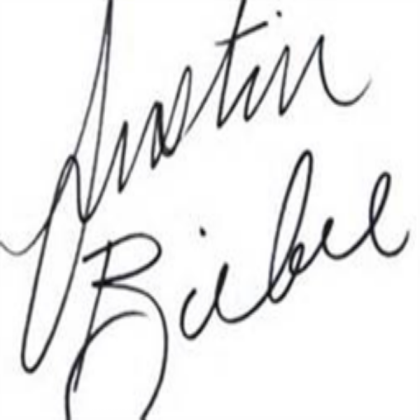 JUSTIN BIEBER AUTOGRAPH FOR ALL THOSE FANS!.