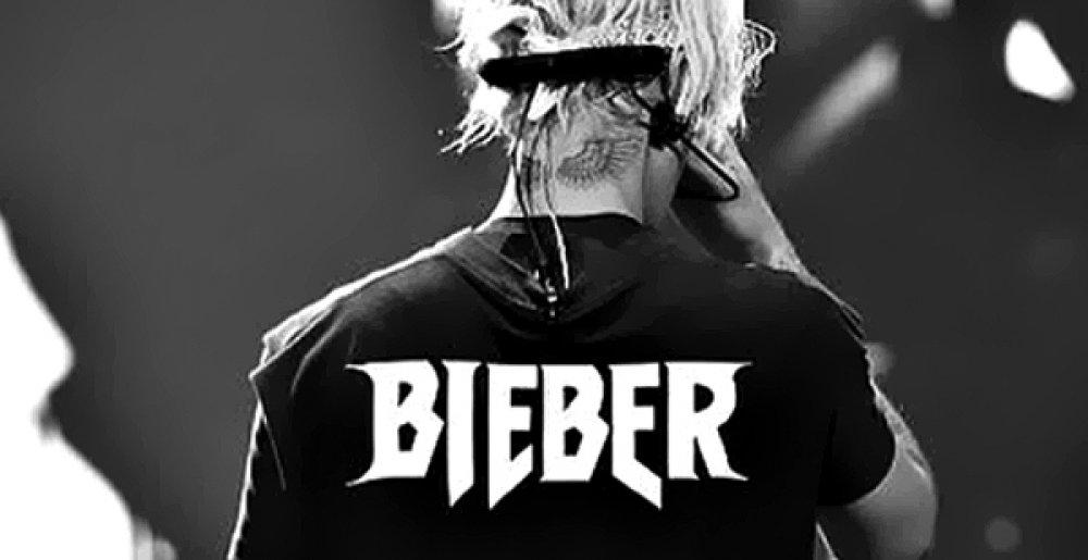 Justin Bieber\'s Logo Just Got a Metal Facelift.