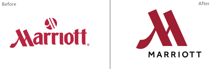 Big Brand Logo Redesign — Before and After Comparision.