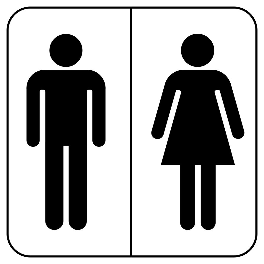 unisex bathroom clipart #17