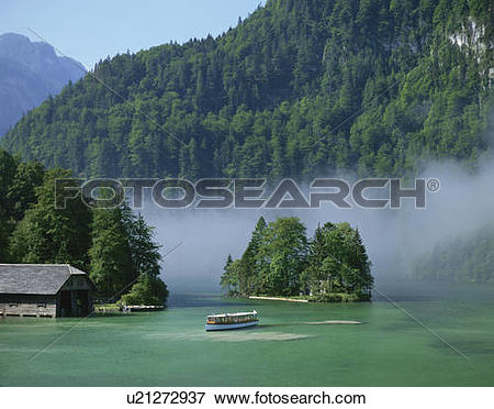 Picture of Lake Konigsee (King's Lake), Germany u21272937.
