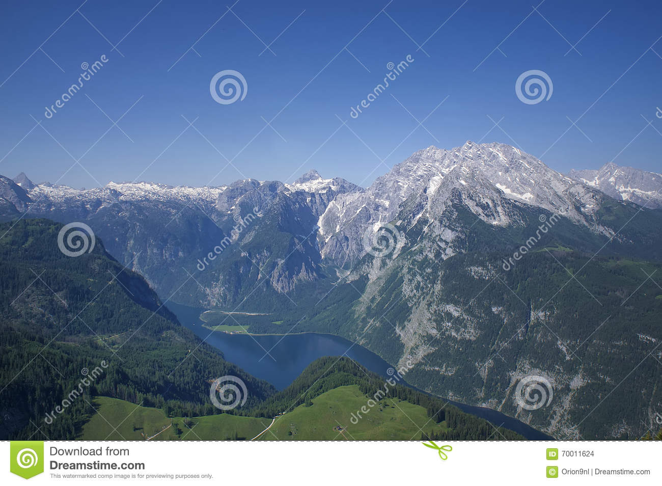 View From Jenner On The Lake Konigssee, Germany Stock Photo.