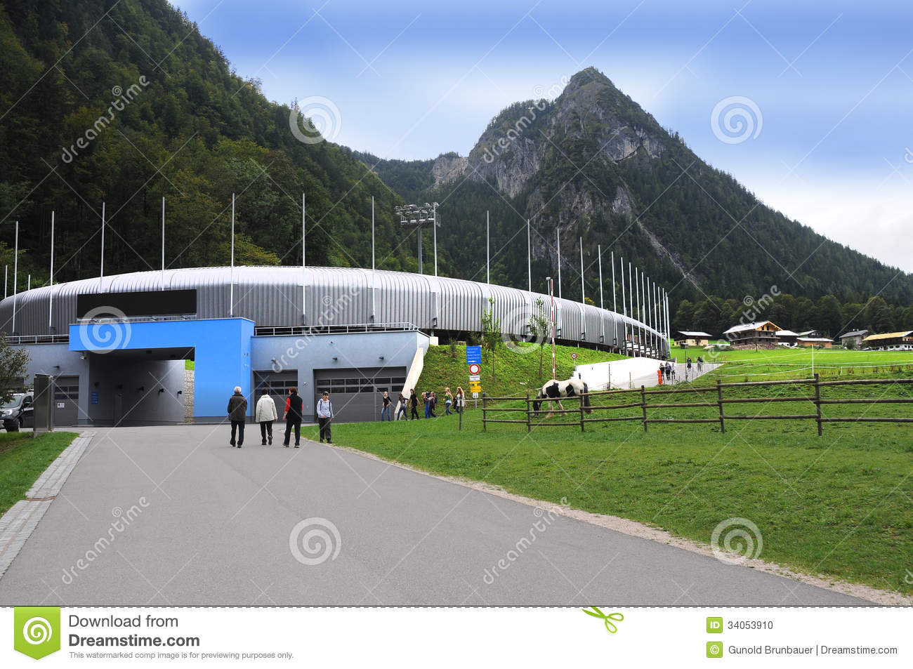Bobsled Luge And Skeleton Track At Königssee Editorial Image.