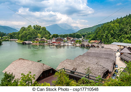 Stock Photo of Port at The Konigssee.