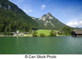 Stock Fotografie von berühmt, See, konigssee.