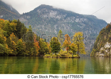 Picture of Konigssee lake, Germany.