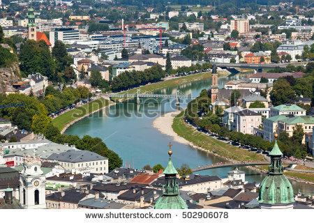 River Salzach Banco de Imagens, Fotos e Vetores livres de direitos.