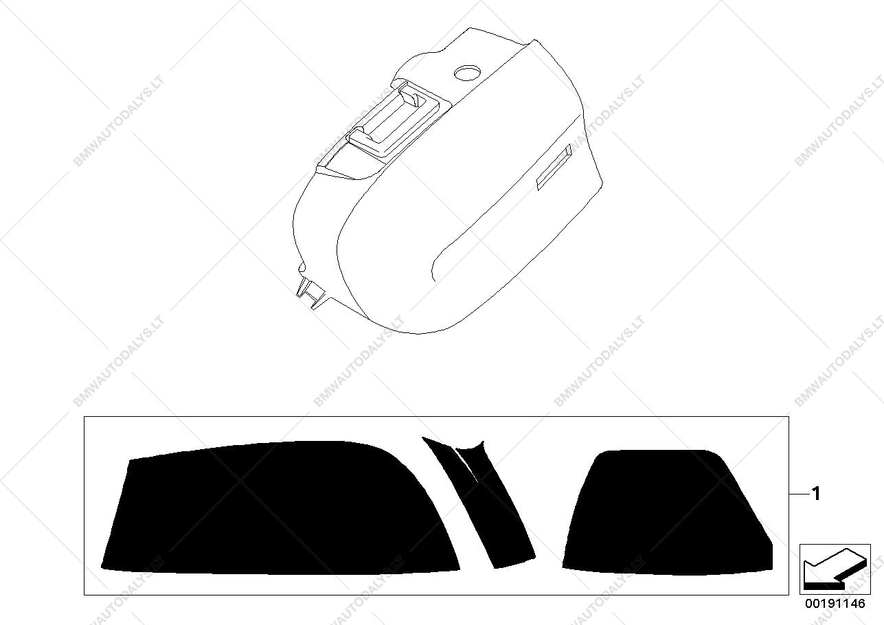 Suitcase protective wrap for BMW K44 (K 1200 GT, K 1300 GT), K.