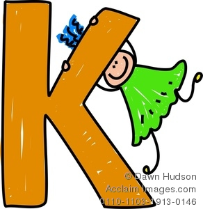 Clipart of the letter k.