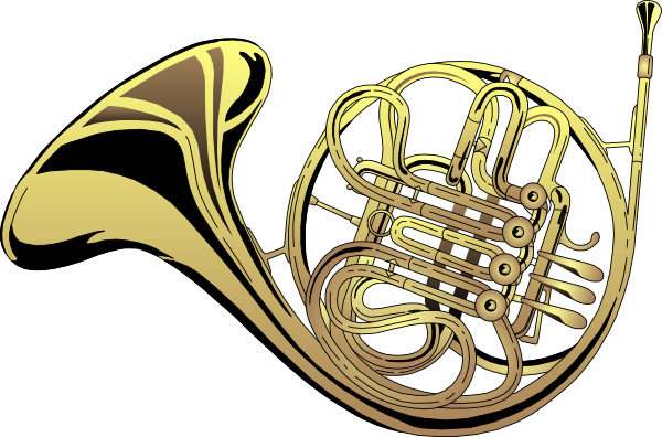 French Horn 4 Clip Art at Clker.com.