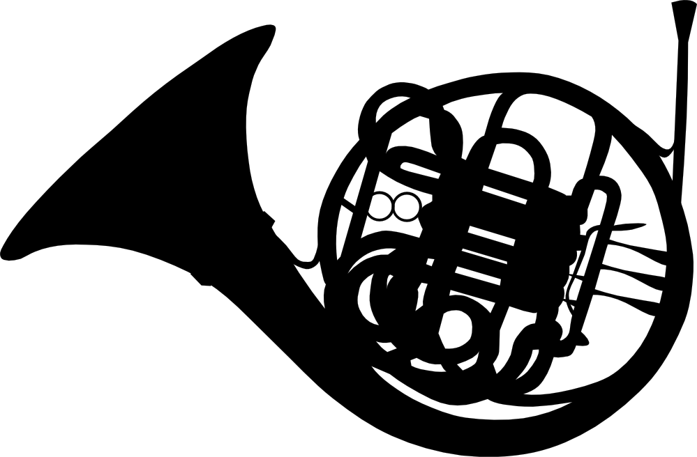 clipartist.net » Clip Art » gerald g french horn 2 SVG.