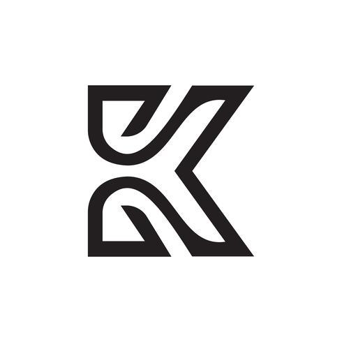 letter k logo design concept template.