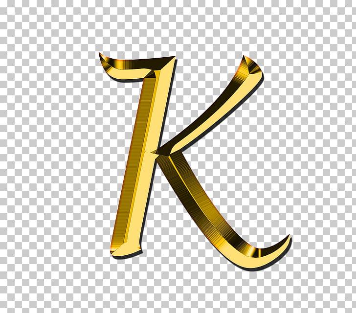 Letter case K Alphabet , gold letter, K letter PNG clipart.