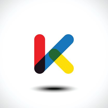 Letter K logo icon design template elements Clipart Image.