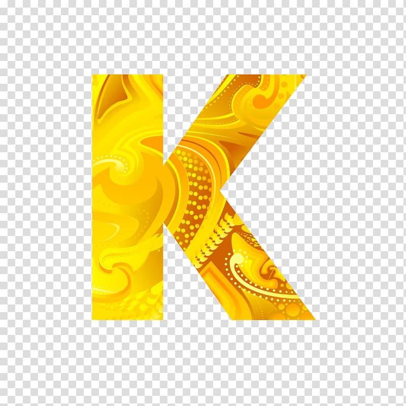 K abstract , Letter K Icon, Golden letters K transparent.
