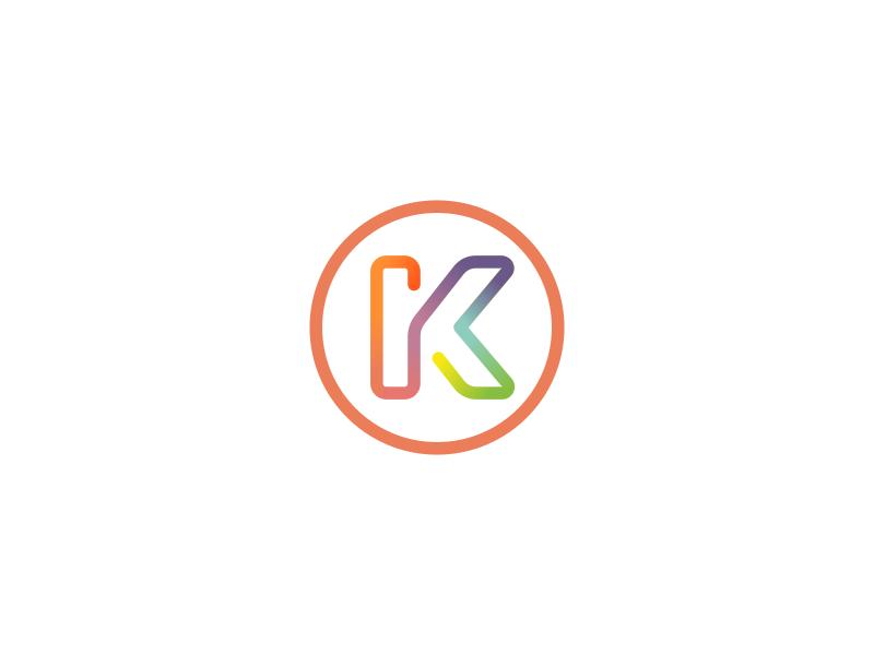 K / Line Logo Design Monogram by Dalius Stuoka.