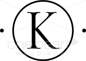 Monogram K Clipart.
