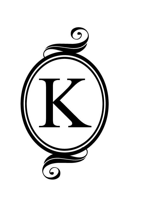 K Monogram Clipart.