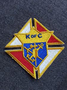 Details about Vintage K of C Knights of Columbus Sword Anchor Cross Jacket  Vest Emblem Patch 3.