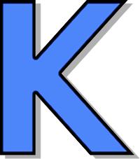 Capitol K Blue Clip Art Download.