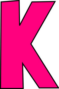 Super Girly Pink K Clip Art at Clker.com.