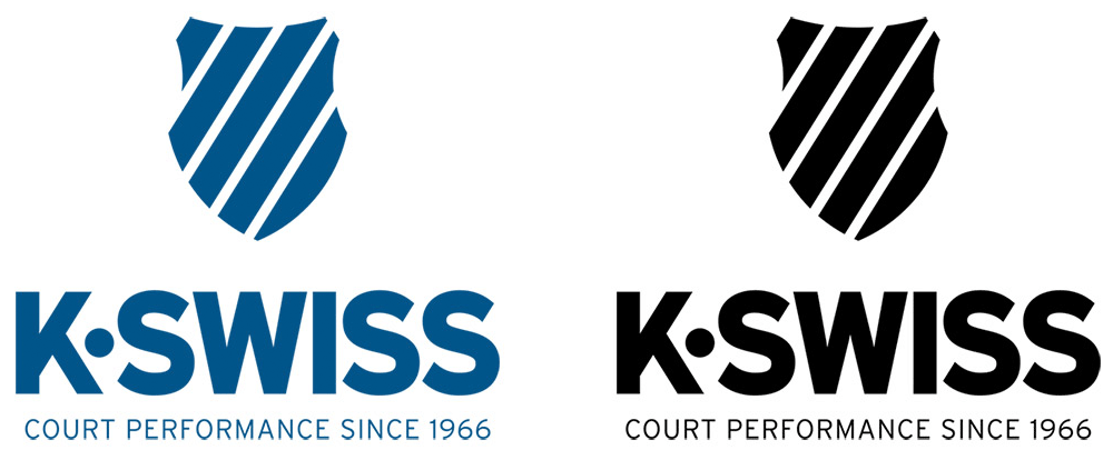 Brand New: New Logo and Identity for K•Swiss done In.