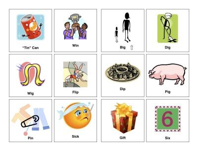 medial k words with pictures.