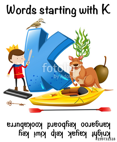 Word Starting with Letter K\