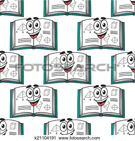 Clipart of Seamless pattern of a happy science textbook k21104191.