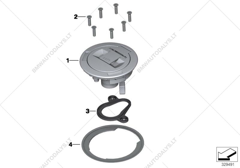 Tank lid for BMW K21 (R nineT), R nineT (0A06, 0A16) (ECE).