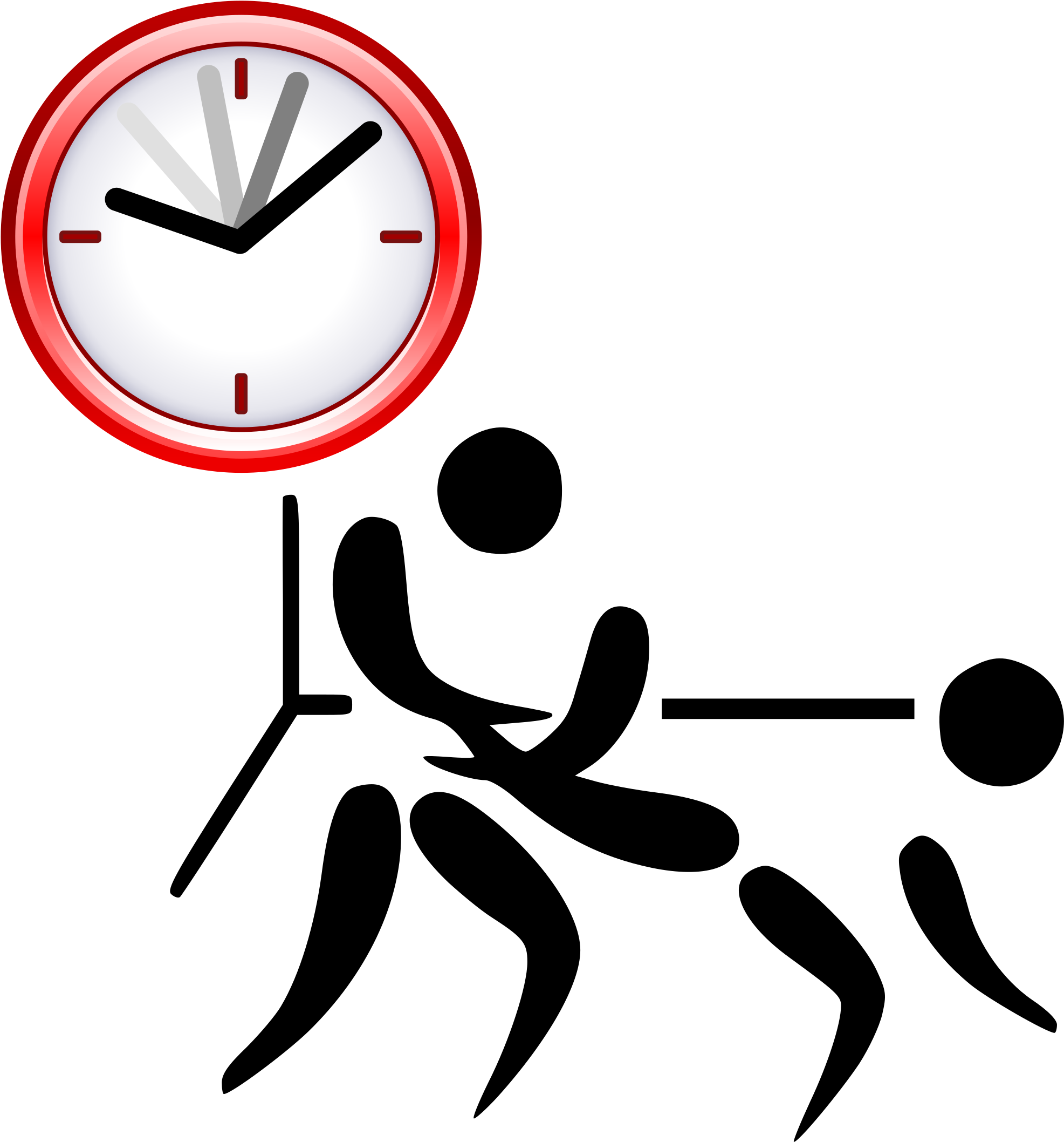 Image Black And White Download Clock Svg Pictogram.