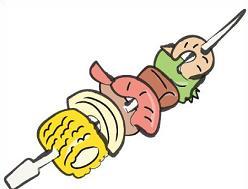 Shish kebab clipart #2