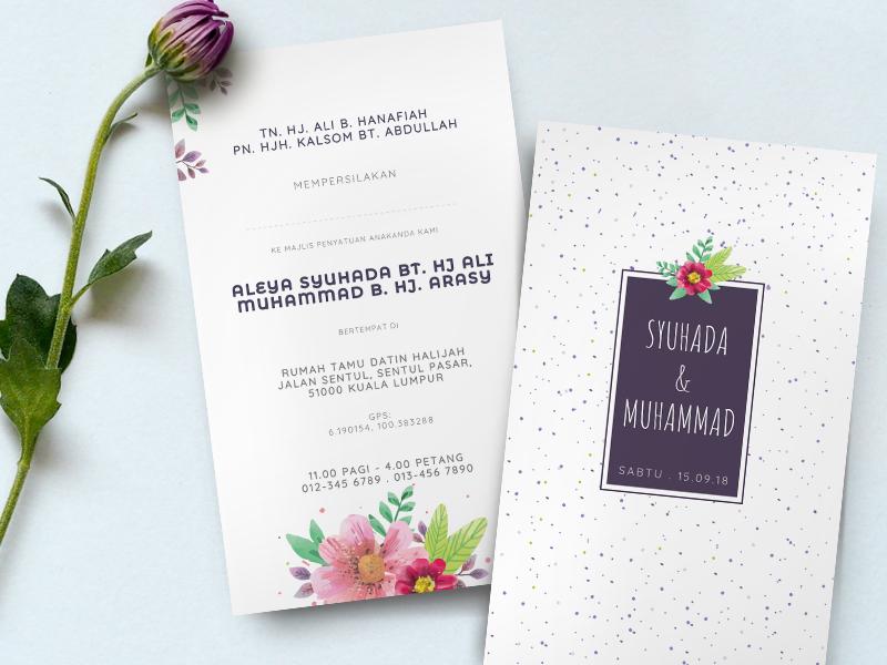 Kad Kahwin Floral.