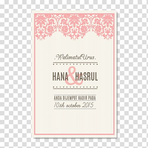 Wedding invitation Save the date Marriage Brides, KAD KAHWIN.