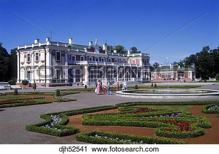 Stock Photography of Catherine's Palace, Kadriorg Park, Tallinn.