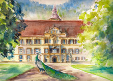 Kadriorg Park Trees Palace Facade Stock Illustrations.