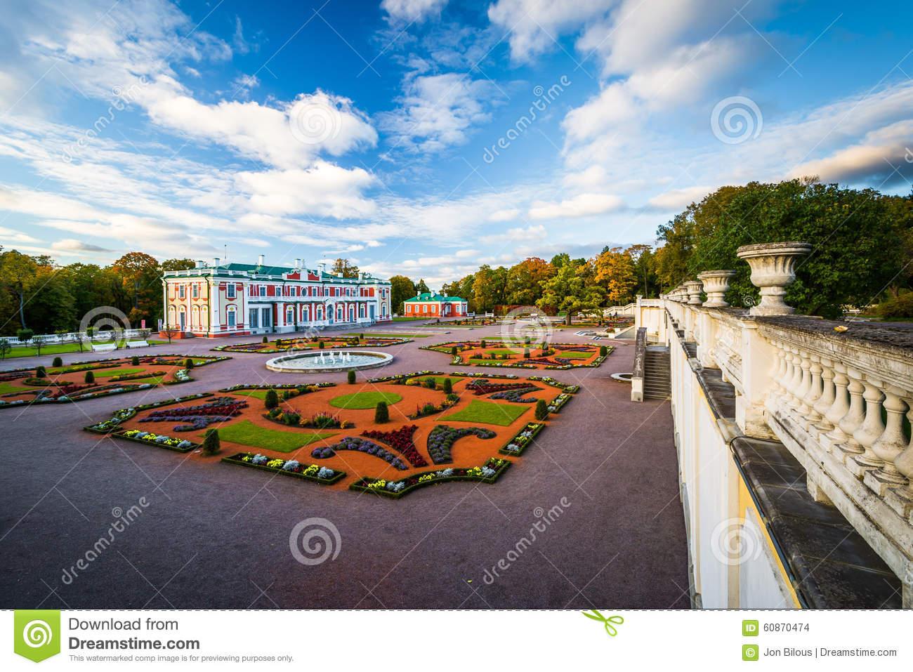 Kadriorg Palace, At Kadrioru Park, In Tallinn, Estonia. Stock.
