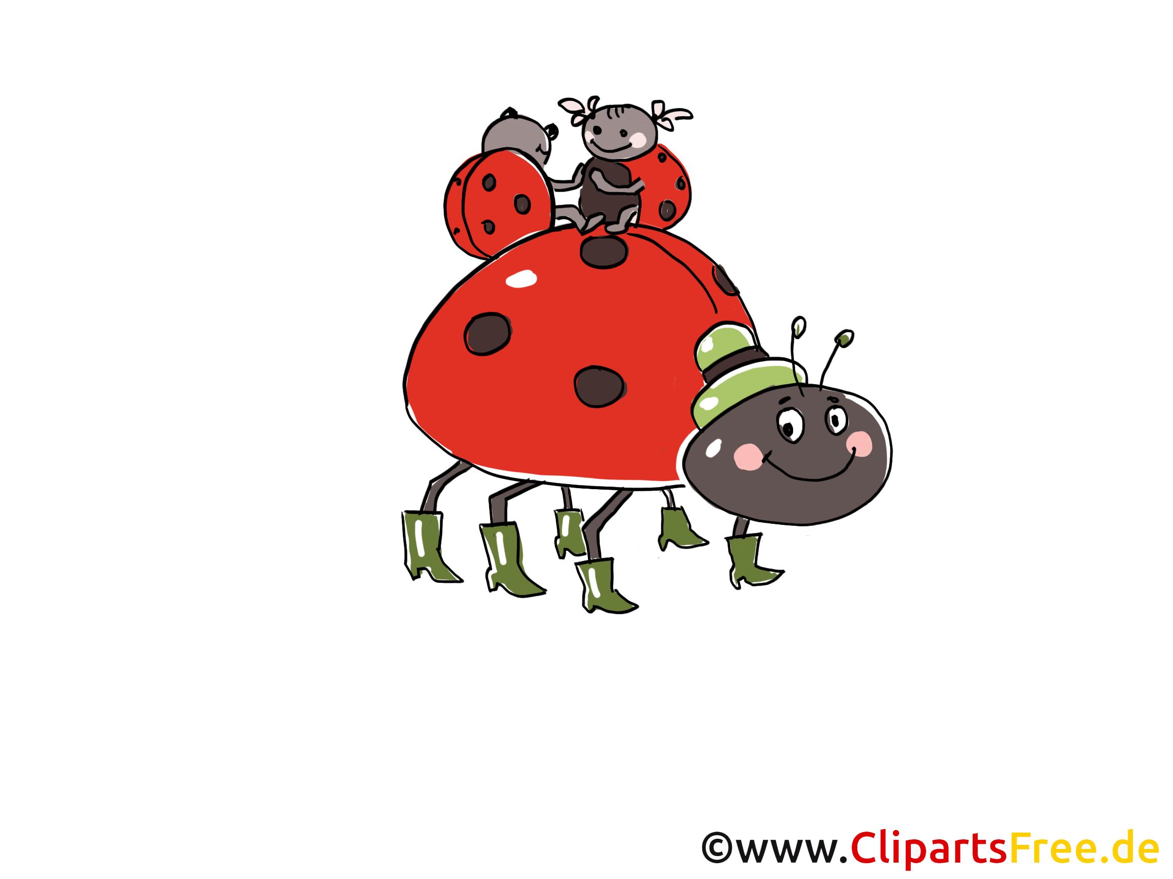 Käfer Comic, Cartoon, Clipart, Bild, Zeichnung, Illustration gratis.