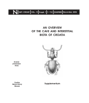 An overview of the cave and interstitial biota of Croatia (PDF.