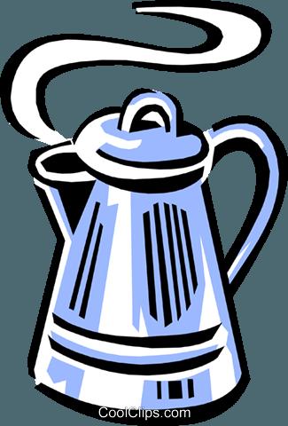Kaffeekanne Vektor Clipart Bild.