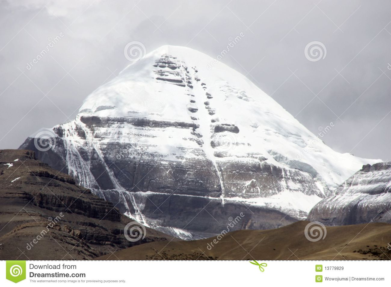 Mount Kailash In Tibet Royalty Free Stock Images.
