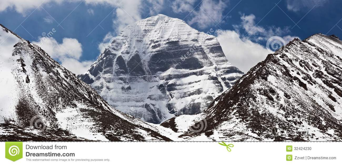 North Face Of Mount Kailash, Tibet Stock Photo.