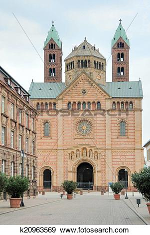 Stock Photograph of Kaiserdom zu Speyer k20963569.