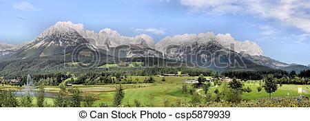 Stock Photographs of Mountain range Wilder Kaiser.