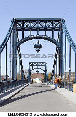 "Stock Photo of ""Kaiser Wilhelm Bridge, historic swing bridge from."