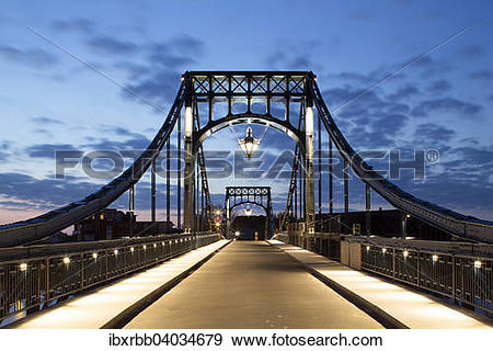 "Stock Photograph of ""Kaiser Wilhelm Bridge, historic swing bridge."