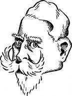 Older Kaiser Wilhelm clip art Free Vector.
