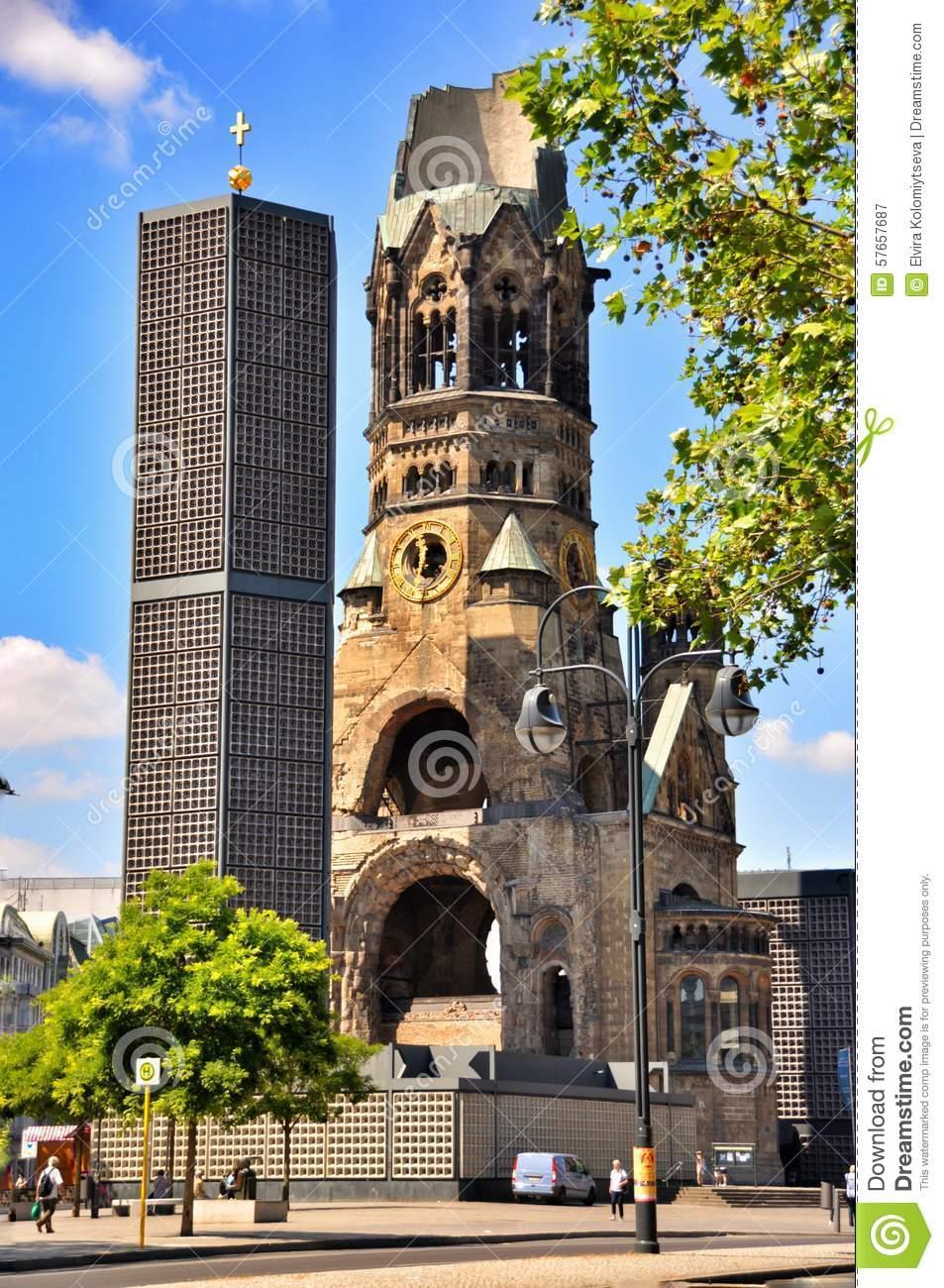 Berlin Traffic And Kaiser Wilhelm Memorial Church, Berlin Germany.