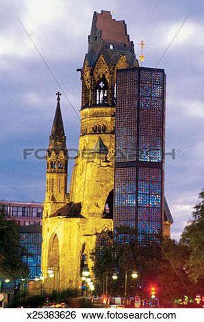 Stock Images of Low angle view of the Kaiser Wilhelm Memorial.