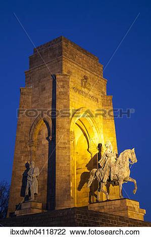 Stock Photo of Kaiser Wilhelm Memorial, Hohensyburg, Dortmund.